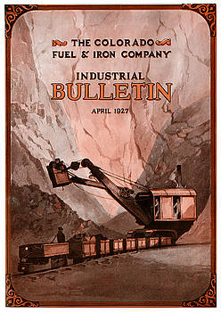 Industrial Bulletin Cover April 1927 by Colorado Fuel and Iron Photo Department