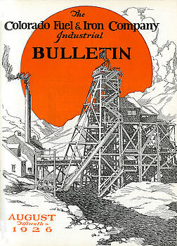 Industrial Bulletin Cover August 1926 by Colorado Fuel and Iron Photo Department