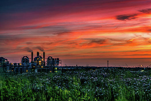 Industrial Sunset by Jim Simmermon
