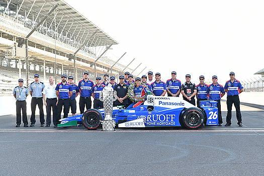 Indy 500 winner Takuma Sato by Rob Banayote