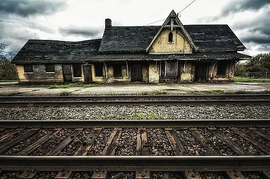 Ingersoll Train Station color by Karl Anderson