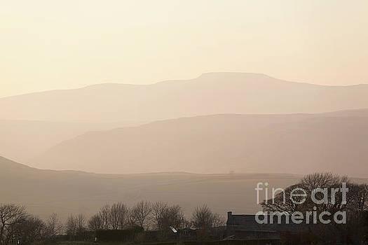 Ingleborough sunset from Winskill by Gavin Dronfield