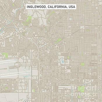 InglewoodCaliforniaUSCityStreetMap_60000 by Frank Ramspott