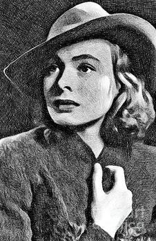 John Springfield - Ingrid Bergman, Vintage Actress by JS