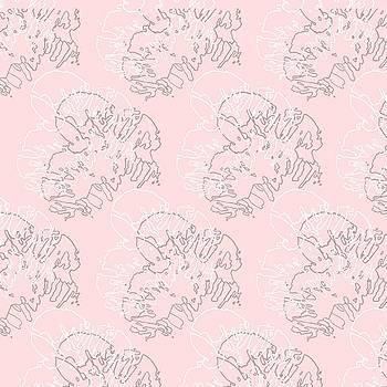 Ink Flower Pattern 1 Double by Cortney Herron