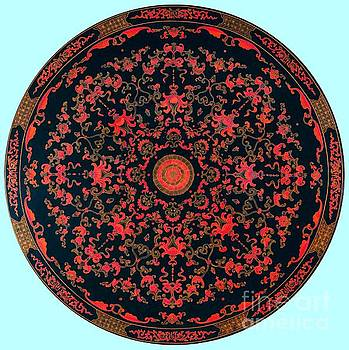 Inlaid Qing Dynasty Chinese Mandala 18th Century by Peter Ogden