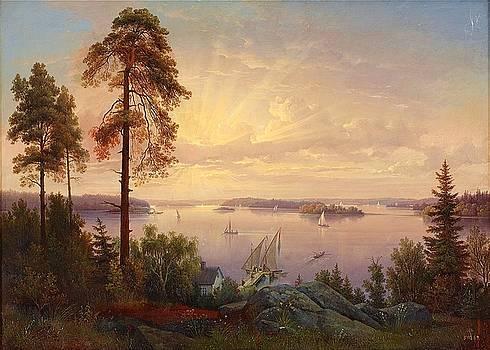 inlet to Stockholm from Drottningholm by Gustav Wilhelm