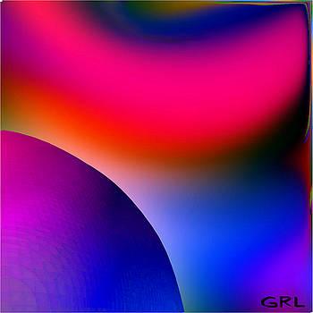 Inner Cosmos 2 red I diptych right  CONTEMPORARY DIGITAL ART by G Linsenmayer