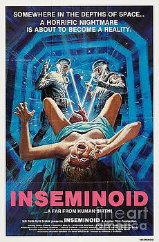 R Muirhead Art - Inseminoid Somewhere in the Depths of Space a Horrific Nightmare is about to become a reality movie