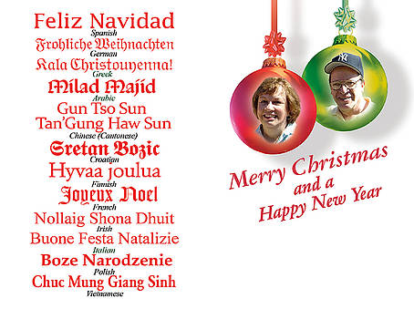 Inside of 2010 Christmas card card by Harold Shull