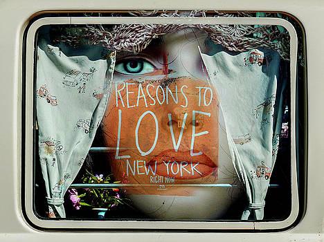 Inside the car window by Gabi Hampe