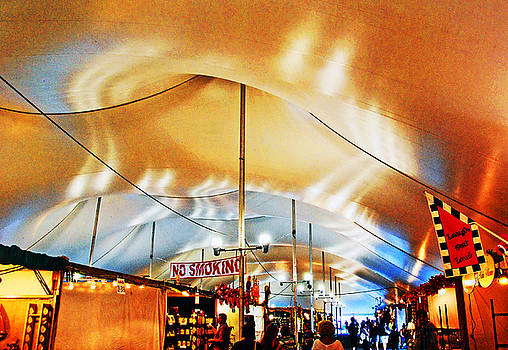Inside the tent. by Bill Jonscher