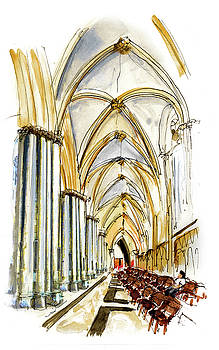 Inside York Cathedral by Miki De Goodaboom