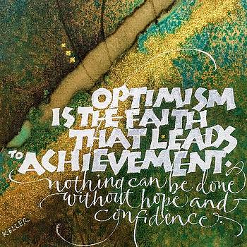 Inspirational Saying OPTIMISM by Sally Wightkin