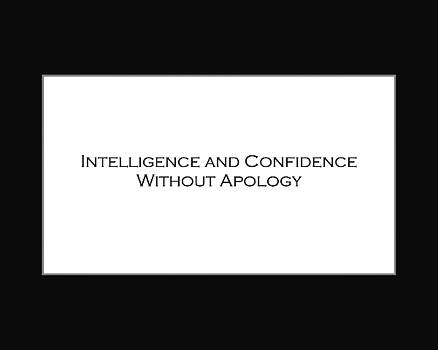 Intelligence and Confidence by David Miller