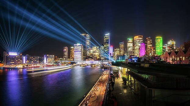 Interactive Laser Show during Vivid Sydney by Daniela Constantinescu