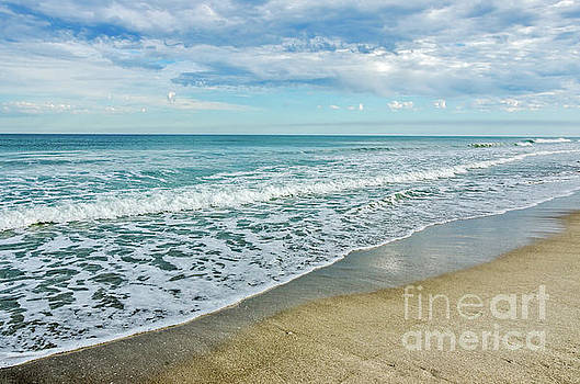 Interesting Clouds and Waves by Sue Smith