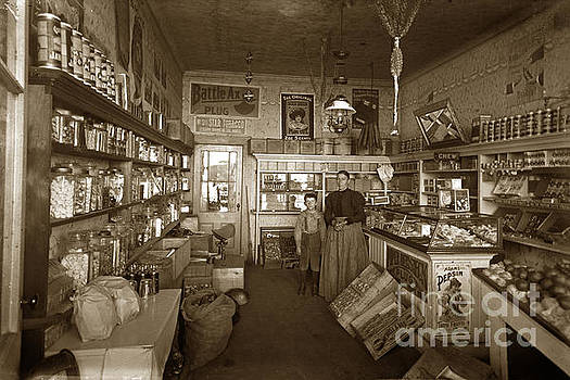 Interior of a dry good and Candy and Tobacco store Circa 1900 by California Views Mr Pat Hathaway Archives