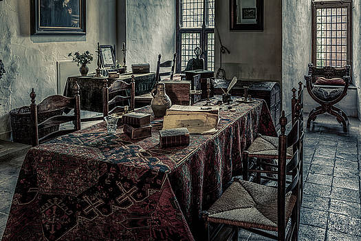 Interior of a room in a medieval castle by Tim Abeln