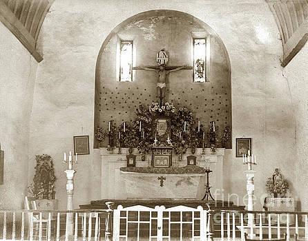 Interior of Carmel Mission circa 1915 by California Views Mr Pat Hathaway Archives