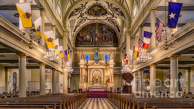 Interior of  St. Louis Cathedral by Jerry Fornarotto