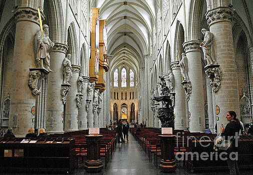 Jost Houk - Interior of St Michaels and St Gudula