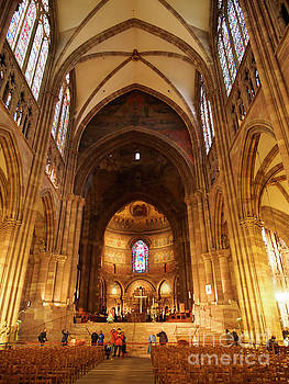 Interior of Strasbourg Cathedral by Louise Heusinkveld
