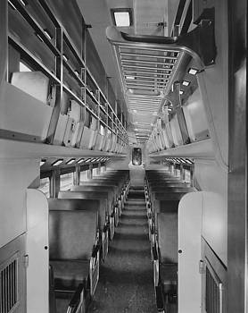 Chicago and North Western Historical Society - Interior Shot of Bilevel Car #47