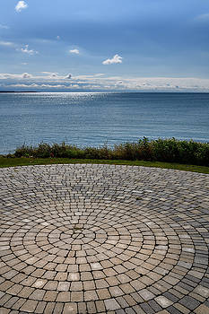 Interlocking paver patio at Wellington Farmers Market at shore o by Reimar Gaertner