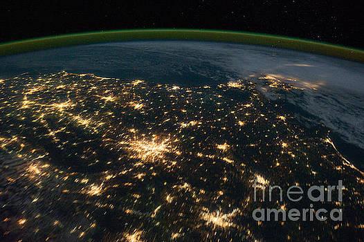 R Muirhead Art - International Space Station night time image  Southeastern United States centered near Atlanta