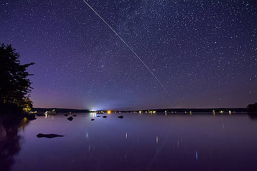 International Space Station over Branch Lake by Kirkodd Photography Of New England