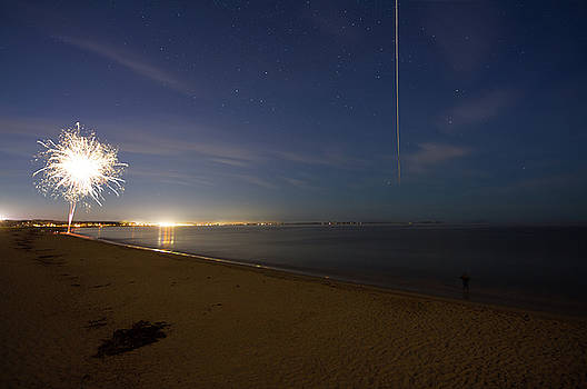 International Space Station over Old Orchard Beach Maine by Kirkodd Photography Of New England