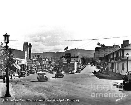 California Views Mr Pat Hathaway Archives - Intersection of Alvarado and Calle Principal St.s, Monterey circa 1940