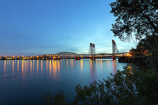 Interstate Bridge over Columbia River at Dusk by David Gn