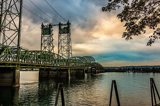 Interstate Bridge to Portland, Or by David Rigg