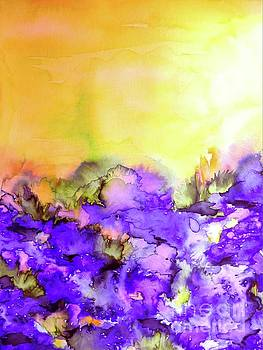 Into Eternity, Yellow and Lavender Purple by Julia Di Sano