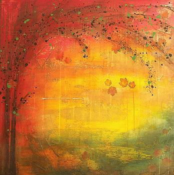 Into Fall - Tree Series by Brenda O'Quin