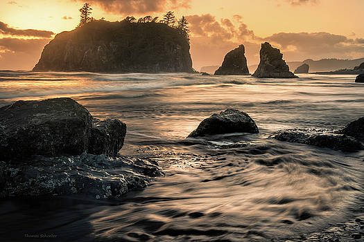 Into The Sea - Ruby Beach by Thomas Schoeller