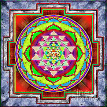 Intuition Sri Yantra 1 by Dirk Czarnota