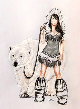 Inuit Pin-Up Girl by Teresa Wing