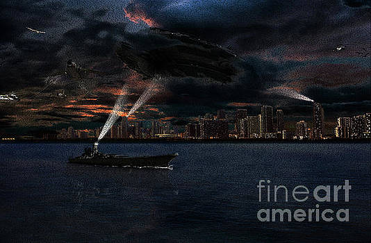 invasion of Miami painting by Thomas Gibson