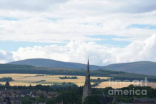 Invergordon Scotland and Barley Fields by Tom Wurl