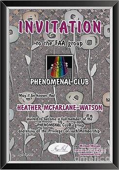 Invitation by Heather McFarlane-Watson