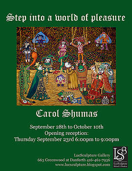 Invitation to Toronto Art Exhibition by Carol Shumas