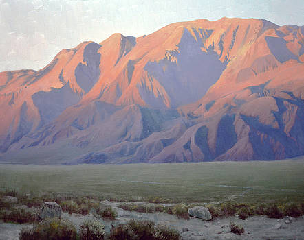 Inyo Mountains at Sunset by Armand Cabrera