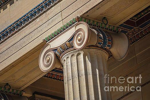 Ionic Column Detail at Philadelphia Art Museum by Leslie Banks