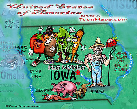 Kevin Middleton - Iowa Fun Map