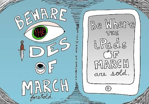 iPads and Ides of March cartoon by Yasha Harari