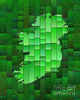 Ireland Map Glasa in Green by Eleven Corners