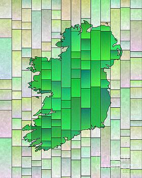 Ireland Map Glasa in Pale Green by Eleven Corners